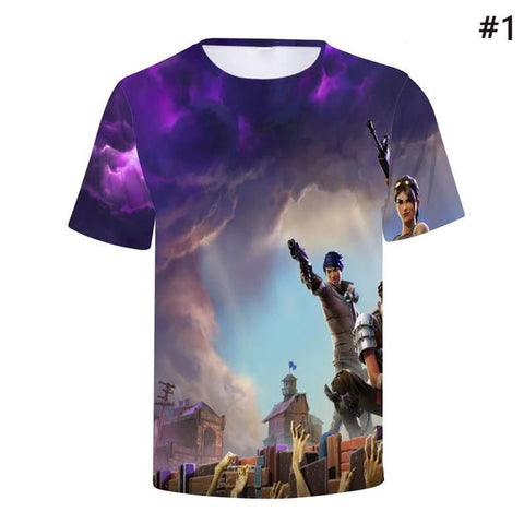 Women Men Fashion Fortnite T Shirts Cool Printing Game 3d Unisex Tee Shirts