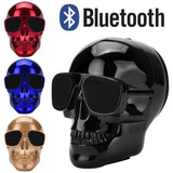 Fashion Plating Skull Protable Wireless Bluetooth Stereo Speaker With HD Sound and Bass Mobile Portable Radio Free Shipping