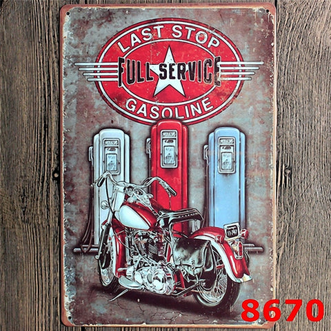 Vintage tin signs retro motorcycle&bus&car metal sign antique imitation iron plate painting decor for bar cafe pub restaurant 32