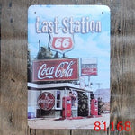 Route 66\ Bus \ Drink \ Poetry Metal Signs Gift PUB Wall art Painting Poster Bar Pub Craft Decor Mix order 20*30 CM