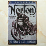 Vintage tin signs retro motorcycle&bus&car metal sign antique imitation iron plate painting decor for bar cafe pub restaurant 30