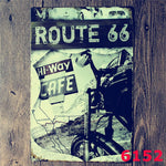 Vintage tin signs retro motorcycle&bus&car metal sign antique imitation iron plate painting decor for bar cafe pub restaurant 42