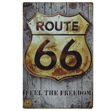 Route Metal Tin Sign Retro Wall Art Painting Poster Plaque Wall Art Plates For Pub Bar Home Decor Route 66 Wall Painting Decor
