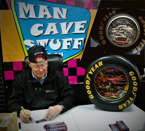 Handmade Allan Moffat Tin Tyre - Signed by Alan Moffat himself