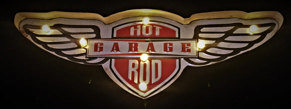 Hot Rod Garage LED sign