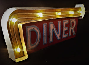 Diner LED Tin Sign
