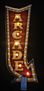 Arcade LED tin sign