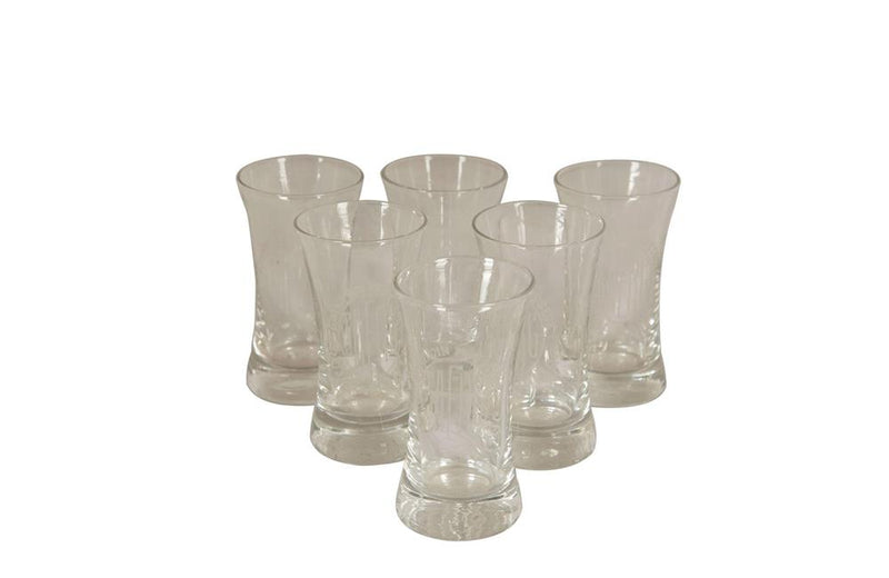 SIX FRENCH BISTRO ADVERTISING GLASSES