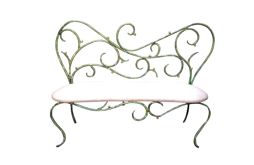 DECORATIVE IRON BENCH