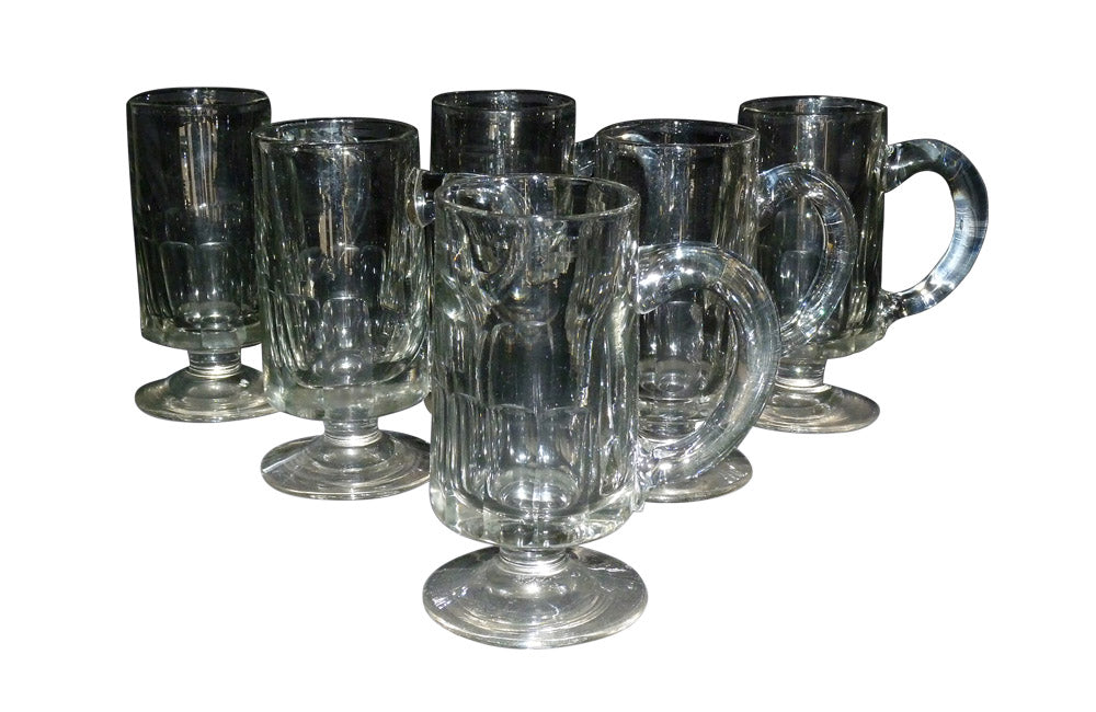 SIX FRENCH CIDER / ALE GLASSES