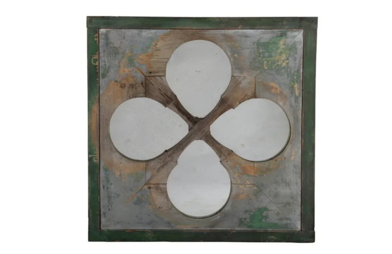 FRENCH QUATREFOIL WINDOW MIRROR