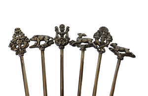 SET OF SIX FRENCH SILVERPLATE SKEWERS