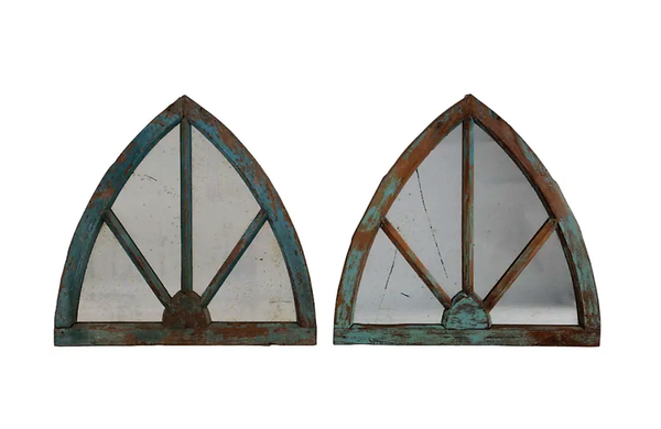 PAIR OF ARCHED MIRRORS