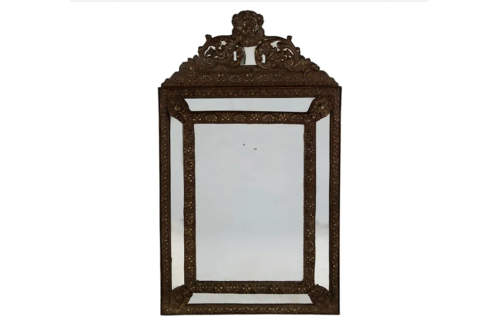 19TH CENTURY 'SUN KING' CUSHION MIRROR