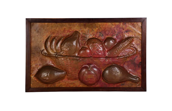 LARGE COPPER STILL-LIFE PANEL