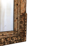 FRENCH CARVED POLYCHROMED MIRROR