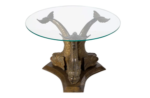 BRONZE DOLPHIN LOW TABLE