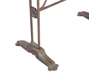 RARE FRENCH IRON GARDEN TABLE