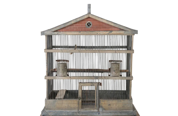 LARGE RARE FRENCH BIRD CAGE