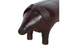 ENGLISH LEATHER PIG FOOTSTOOL