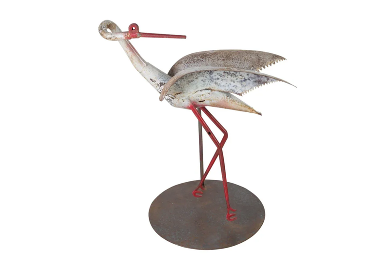 ART-POPULAIRE STORK SCULPTURE