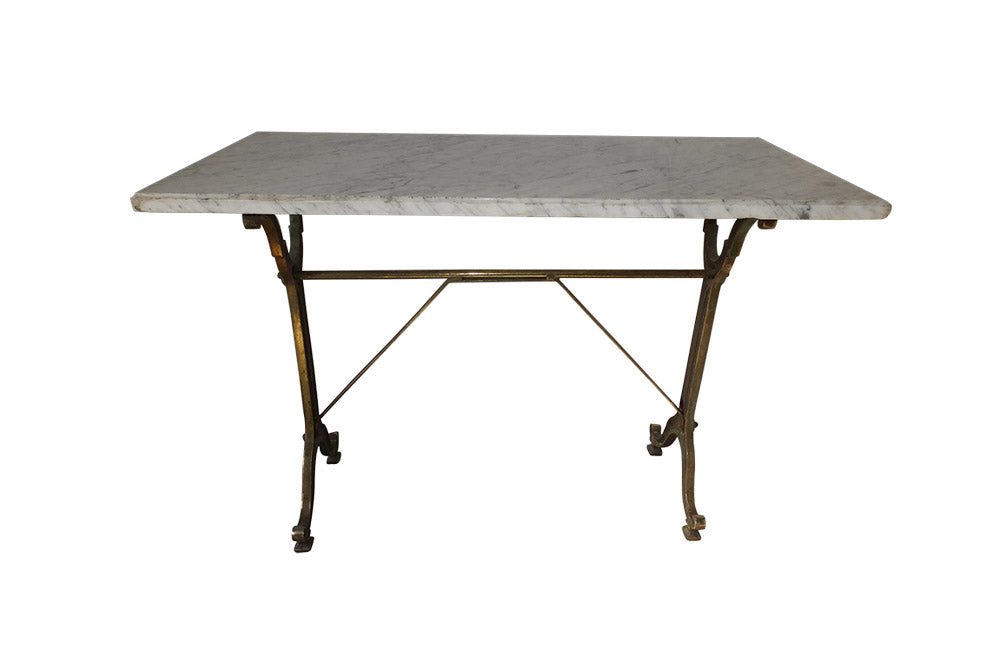 FRENCH BRASSED BISTRO TABLE