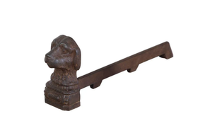 PAIR OF DOG ANDIRONS