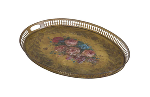 19TH CENTURY PAINTED TOLE TRAY