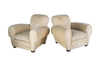 PAIR OF LARGE CLUB CHAIRS