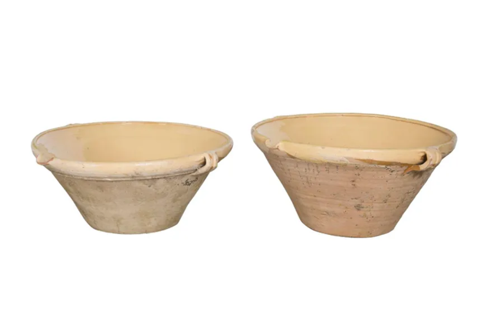 MATCHED PAIR OF LARGE TIAN POTS