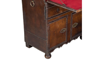 VINTAGE LEATHER SECRETAIRE