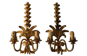 PAIR OF HOLLYWOOD REGENCY STYLE APPLIQUES
