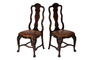 PAIR OF DUTCH HALL CHAIRS