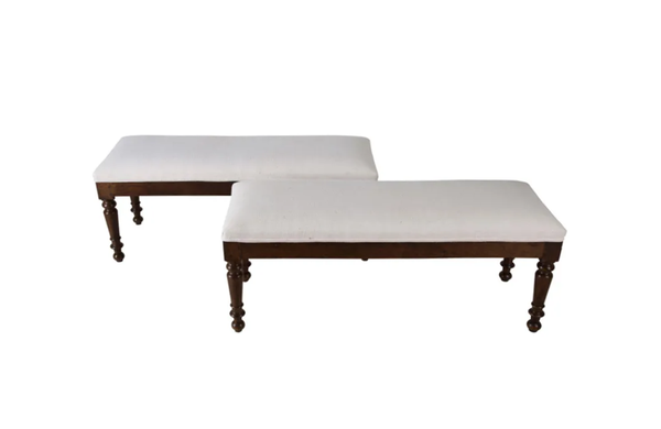 PAIR OF 19TH CENTURY BENCHES
