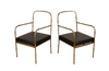 PAIR OF JACQUES ADNET STYLE ARMCHAIRS