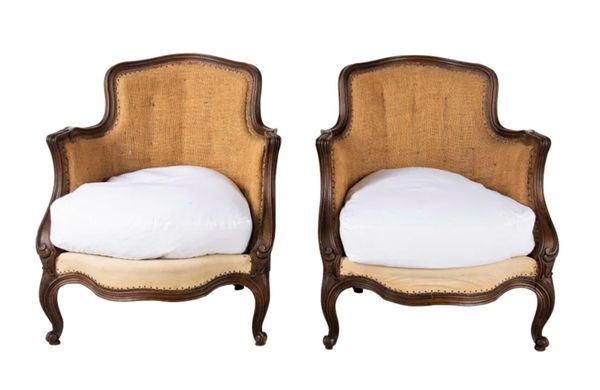 PAIR OF LOUIS XV REVIVAL ARMCHAIRS