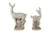 DEER AND FAWN GARDEN STATUES