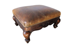 LOUIS XV REVIVAL FOOTSTOOL