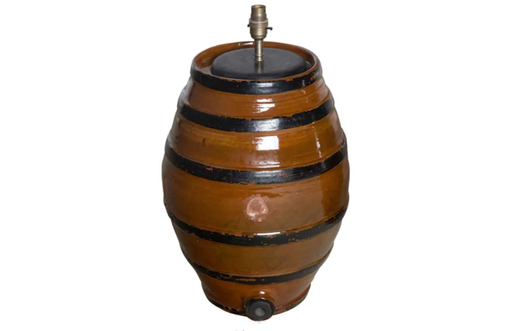 POTTERY BARREL LAMP