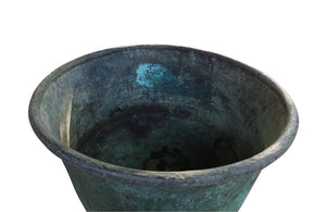 LARGE VERDIGRIS COPPER VAT