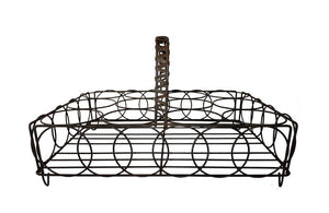 FRENCH WIREWORK GLASS CARRIER