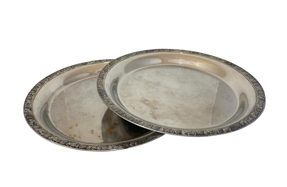 PAIR OF ROMA COCKTAIL TRAYS