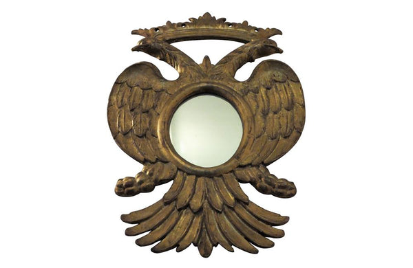 CARVED CROWNED EAGLES LOOKING GLASS