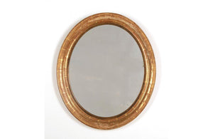 19TH CENTURY FRENCH OVAL MIRROR
