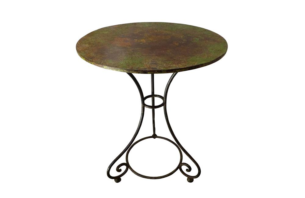 19TH CENTURY FRENCH IRON GUERIDON TABLE