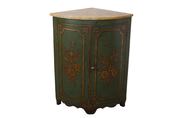 ITALIAN PAINTED CORNER CUPBOARD