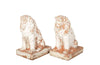 PAIR OF TERRACOTTA LIONS