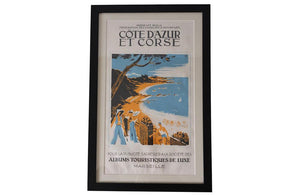 TWELVE FRAMED TRAVEL POSTERS