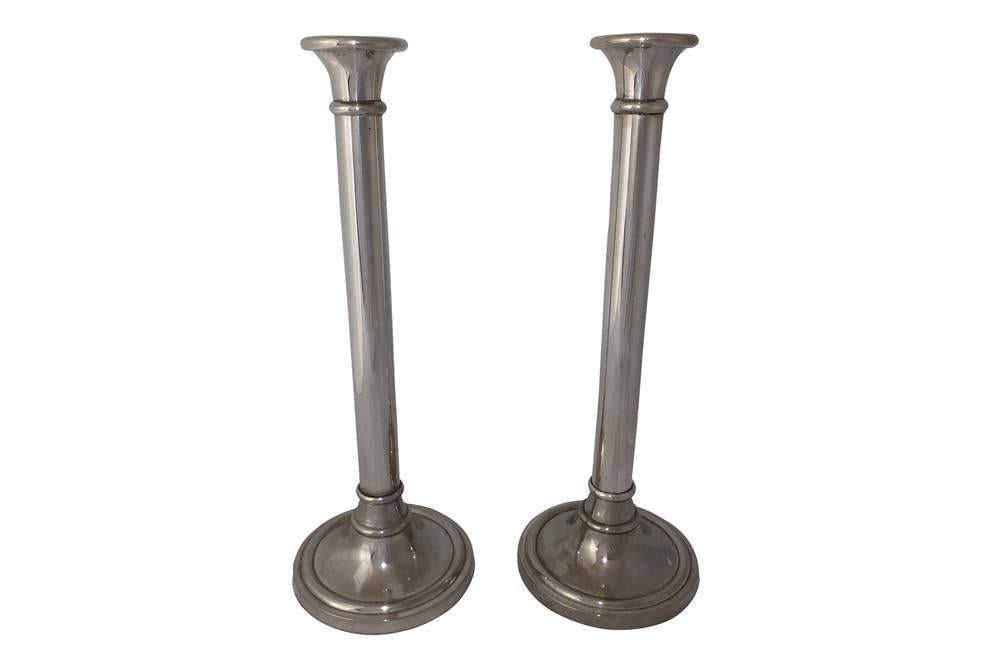 PAIR OF TALL VINTAGE CANDLESTICKS