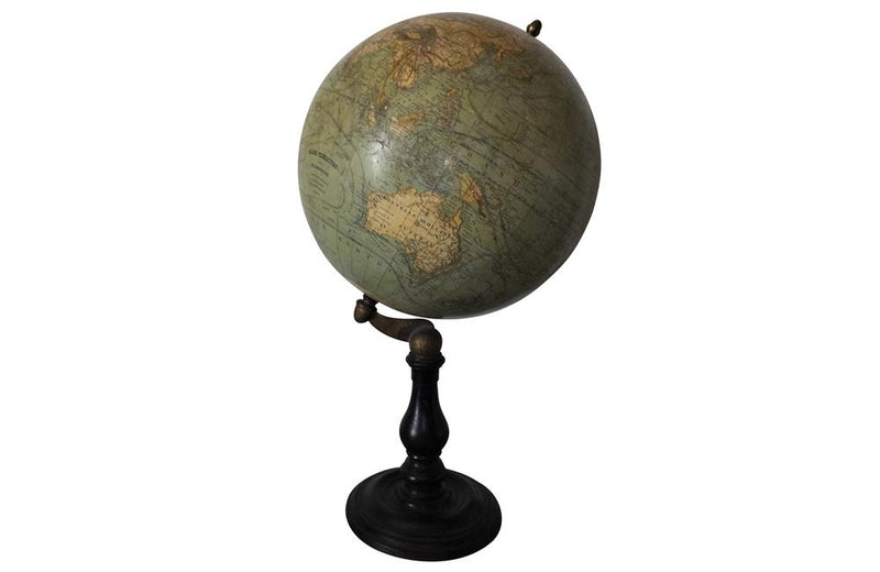 19TH CENTURY FRENCH TERRESTRIAL GLOBE